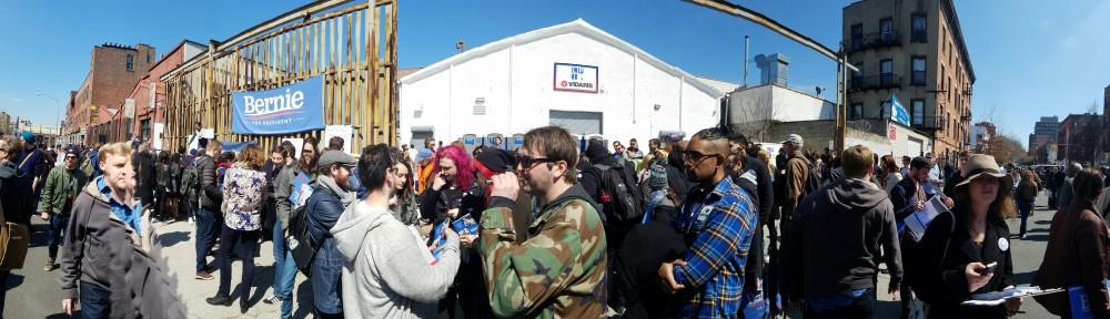 Block party outside the Gowanus HQ.
